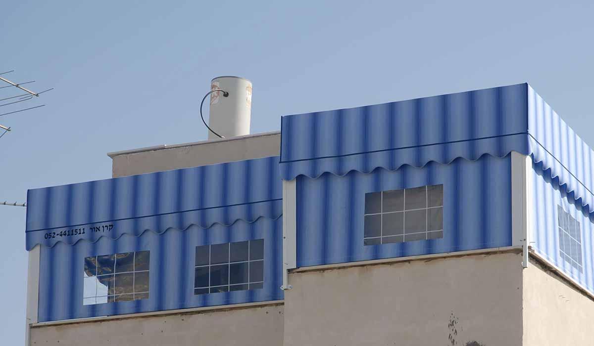 סגירת חורף דירת גג מבט חיצוני 1