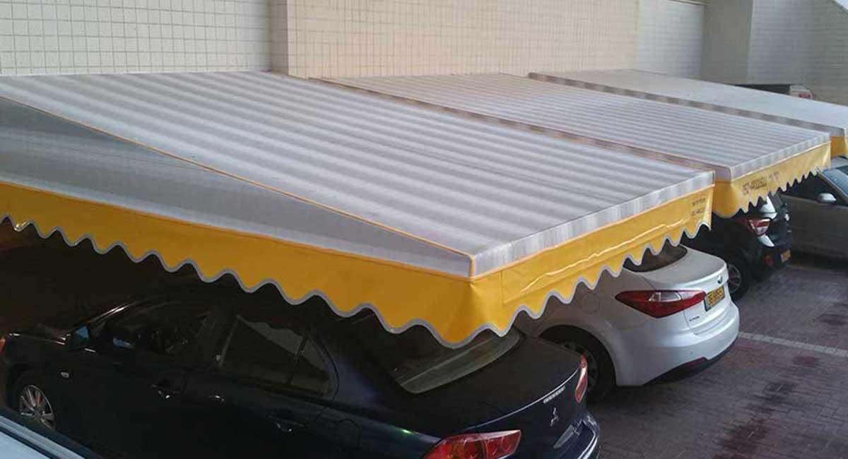 סוכך קבוע לחניה בבינין משותף -2