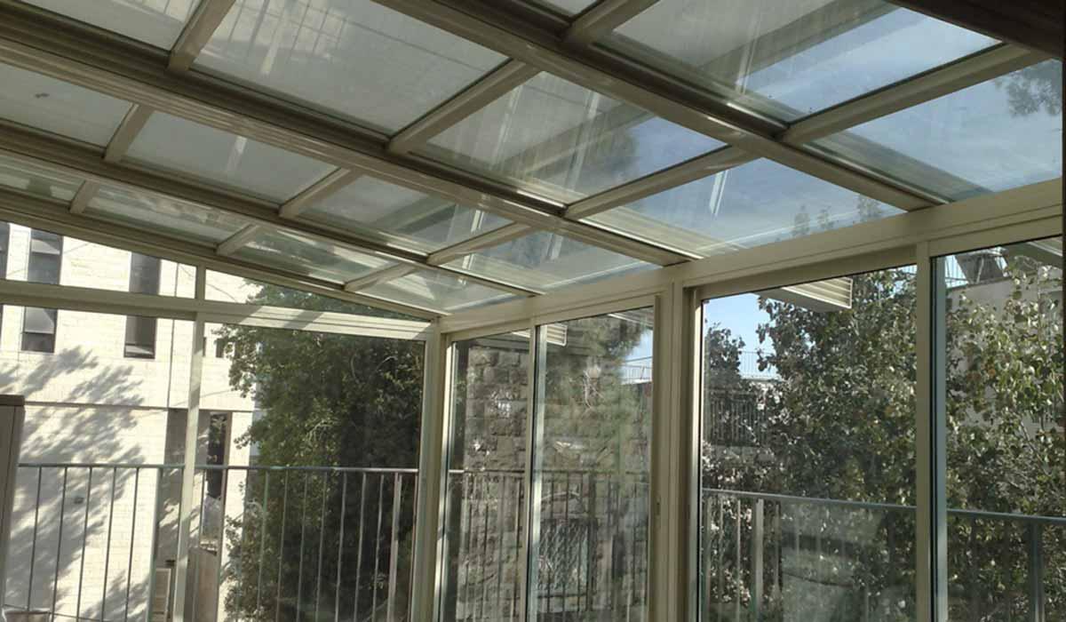 גג הזזה אלומיניום למרפסת
