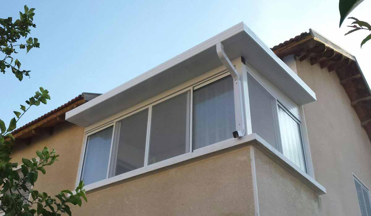 סגירת פנל אלומיניום וחלונות זכוכית מבט חיצוני