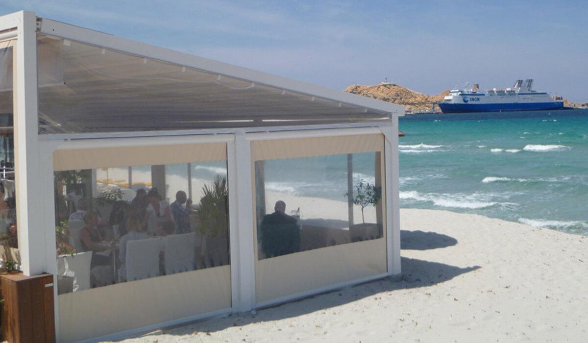 פרגולה נפתחת מסעדה 4 עונות