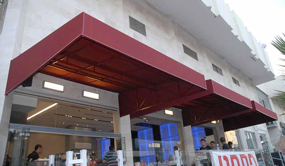 סוכך חנות מסעדה גריל