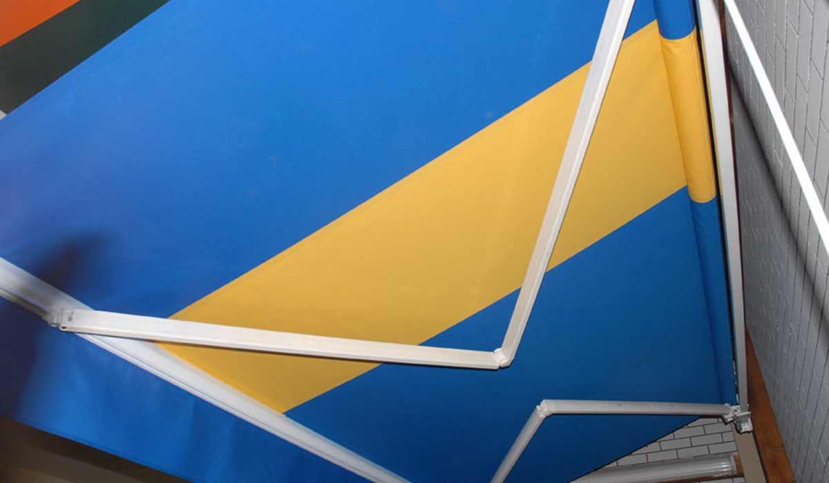 סוכך זרועות בשילוב כחול צהוב