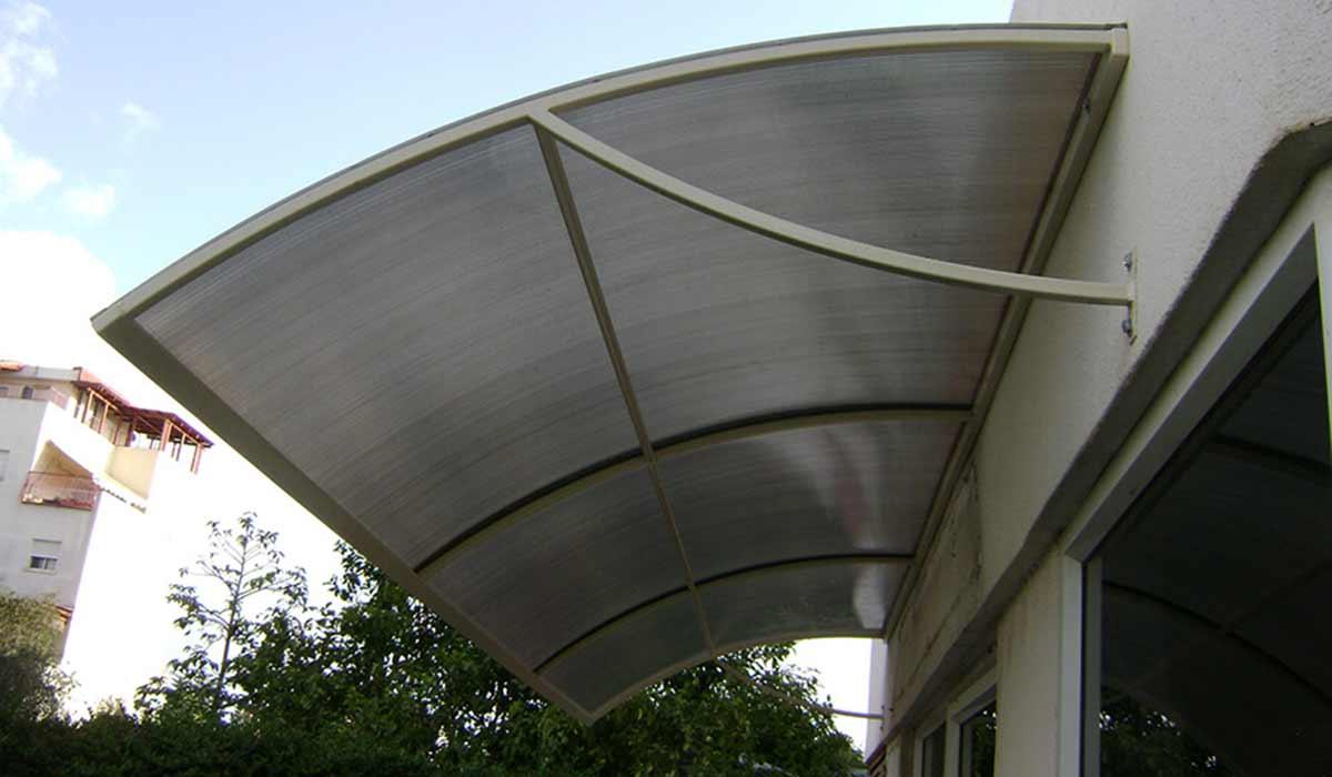 סוכך קבוע מעוצב בקשת יציאה למרפסת – 1