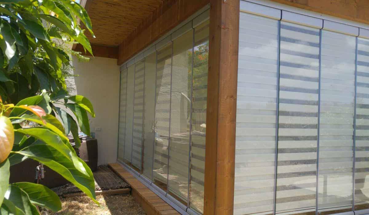 חלונות הזזה נאספות משולבות לפרגולה עץ - 2