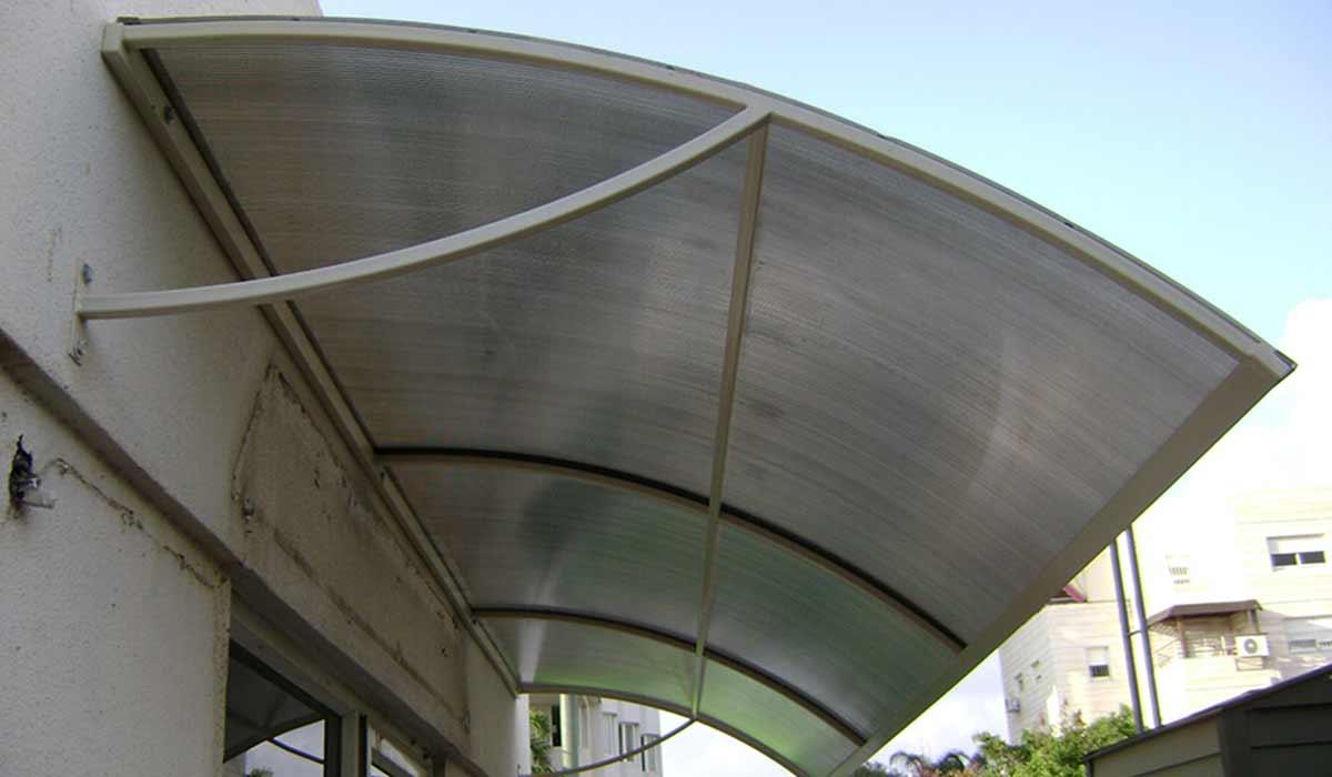 סוכך קבוע מעוצב בקשת יציאה למרפסת – 2